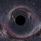Impressie van een zwart gat